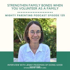 Jenny Friedman volunteer as a family