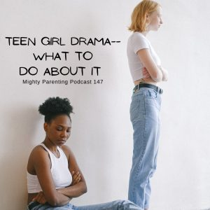 Teen girl drama showing girls with backs turned to each other